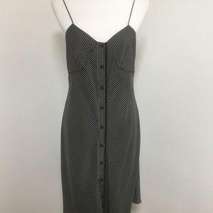 Rag & Bone Lois silk black/white dress